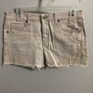 Aeropostale light pink/cream jean shorts
